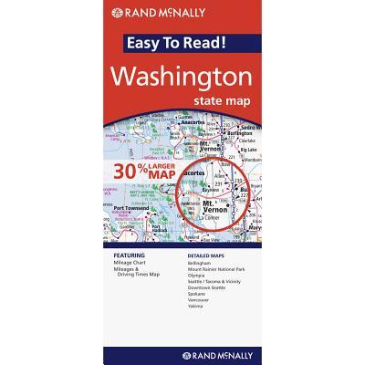 Rand McNally Easy to Read Washington State Map By Rand McNally and Company